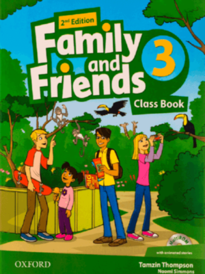 AMERICAN FAMILY AND FRIENDS 2ND 3 SB+WB+CD+DVD