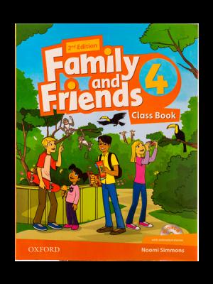 کتاب Family and Friends 2nd 4 SB+WB+DVD