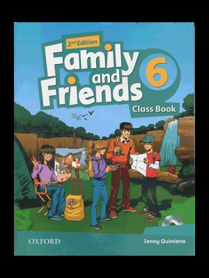 کتاب Family and Friends 2nd 6 SB+WB+DVD